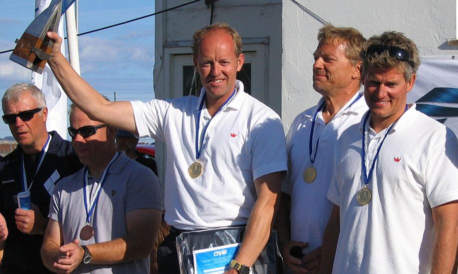 Mads Korsgaard og mandskab stod øverst på skamlen i Århus Sejlklub.