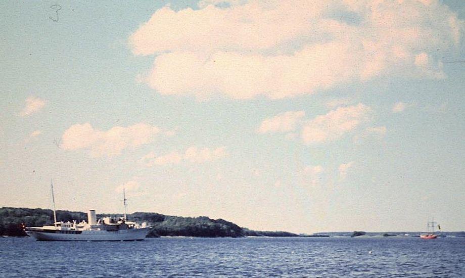 Kim Hegn Hansens billede taget fra stranden i Strandhuse d. 11. juni 1967. Foto: Kim Hegn Hansen