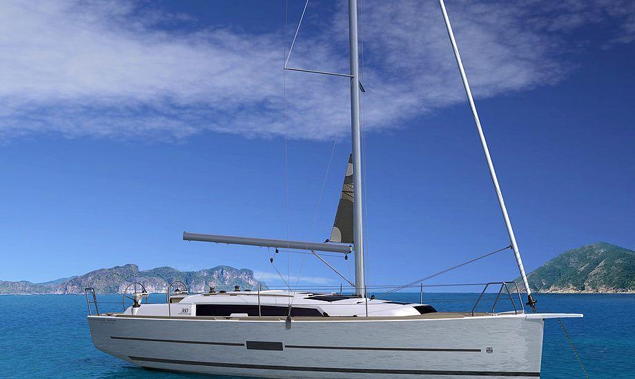 Dufour 360 Grande Large har en længde på 10,73 meter. PR-foto.