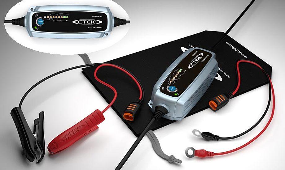 CTEKs nye LITHIUM XS er designet til at sikre LiFePO4-batterier størst mulig ydeevne og  levetid. Foto: CTEK