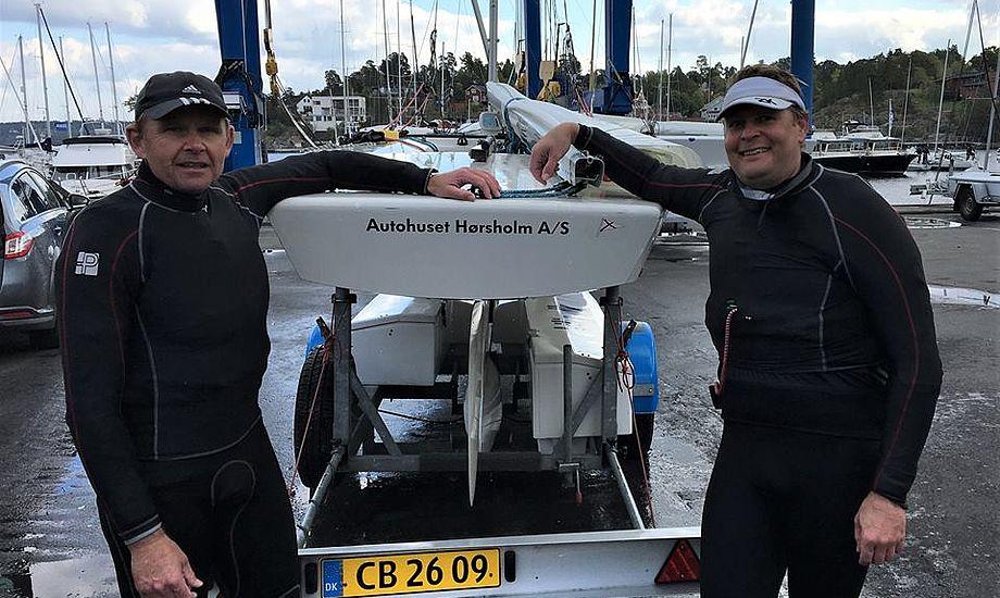 Bo Selko og Rasmus Knude kørte til Stockholm og sejlede 3. plads hjem i Starbåd. Flemming Sørensen og gast tog 9. plads. Privatfoto