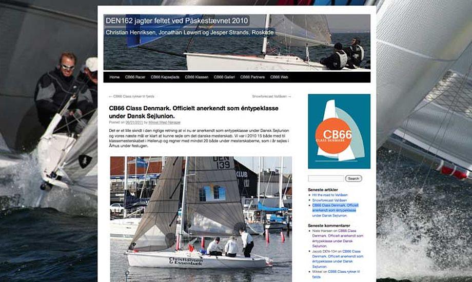 Nemt og overskueligt er nøgleordene, nå det handler om CB66-klassen nye hjemmeside.