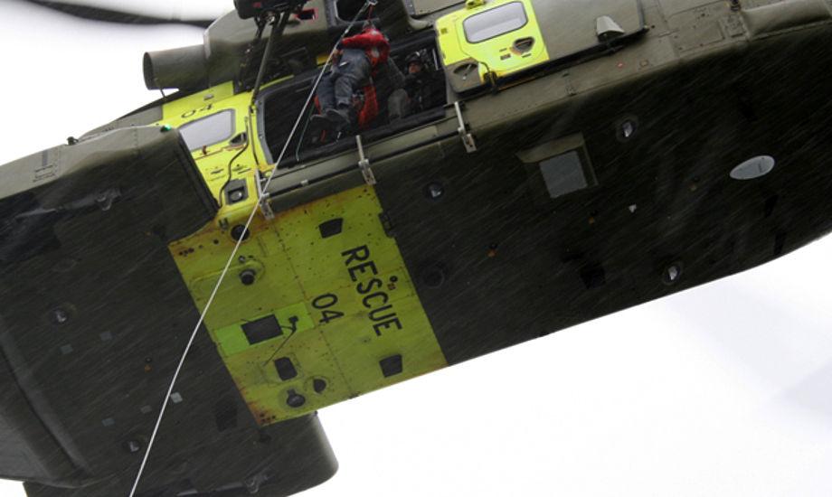 Søværnets Operative Kommando har sat en helikopter ind i aktionen ved Faaborg.