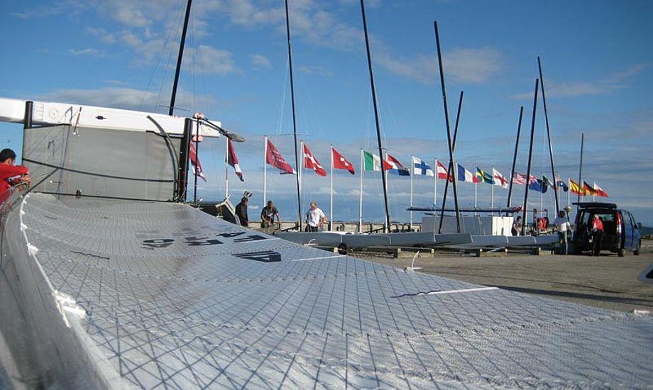 Du kan følge sejladserne på TracTrac. Foto: Sailing-aarhus.dk