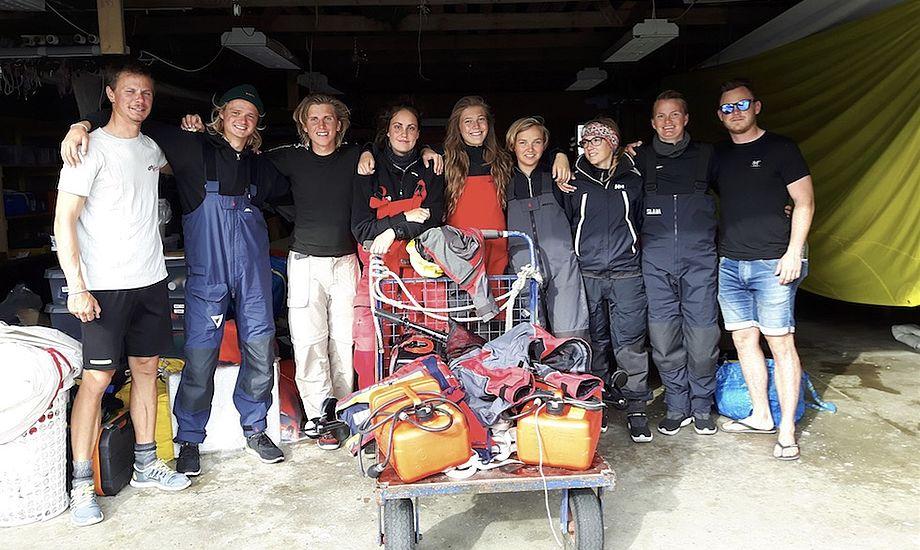 Otte danske skippere står klar til at indtage de internationale farvande. Foto: Oure