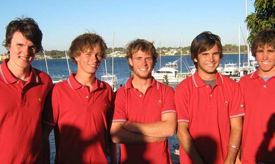 Team Boidin i Perth. Fra venstre: Martin Boidin, Leo Shoal, Adam Claskin, Arnau Farras-Knowles og James Loughridge.