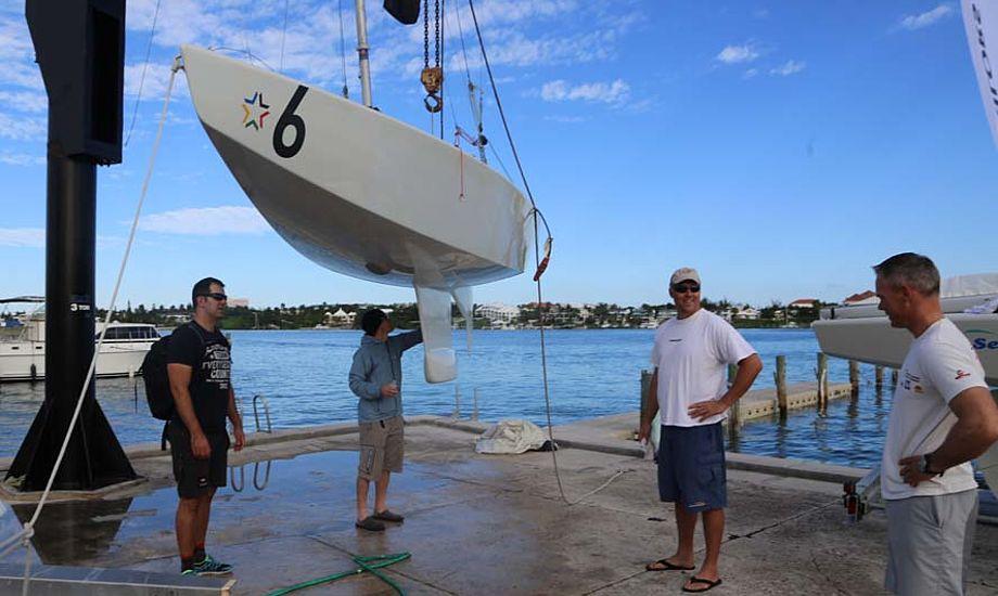 Ejvind Melleby fra Norge er ved at gøre båd klar. Foto: Troels Lykke