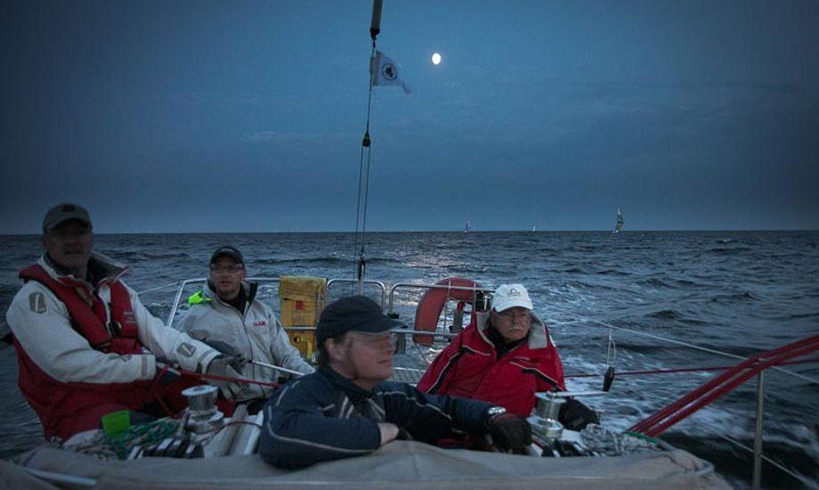 En stille aften i måneskin, fra Sjælland Rundt 2012. Foto: Henrik Jessen