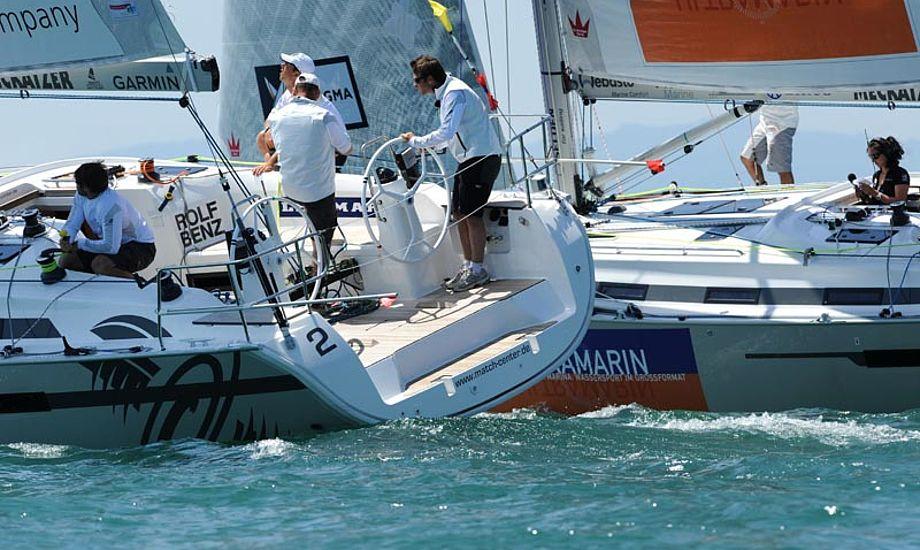 Elvstrøm Sails har gennem mange år haft et tæt samarbejde med Match Race Germany. Foto: Felix Kästle/MRG