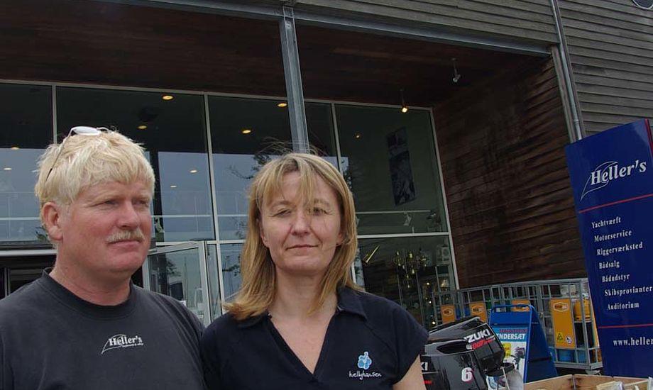 Peter Heller og Annette Lykke Nielsen har brugt flere år på at forsvare deres husleje i Kastrup. - Det koster så meget tid, siger Peter Heller. Foto: Troels Lykke