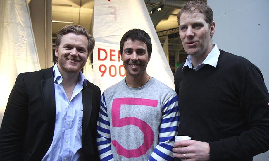 Jonas Høgh-Christensen, Christian Kamp og Thomas Jacobsen i Bella Center til prisoverækkelse. Foto: Troels Lykke