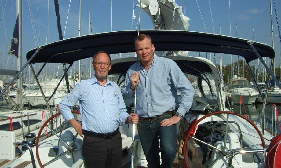 Ib Frederiksen t.v. og Mads Christiansen t.h. fusionere deres firmaer, der lejer både ud.