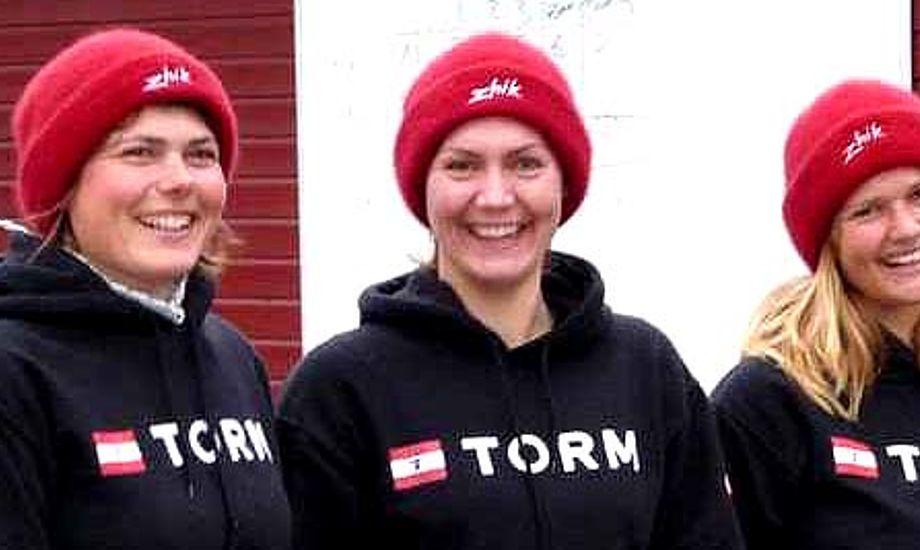 Fra venstre: Trine Abrahamsen, Lærke Nørgaard og Ida Hartvig. Sidstnævnte var ikke med i ulykken i november.