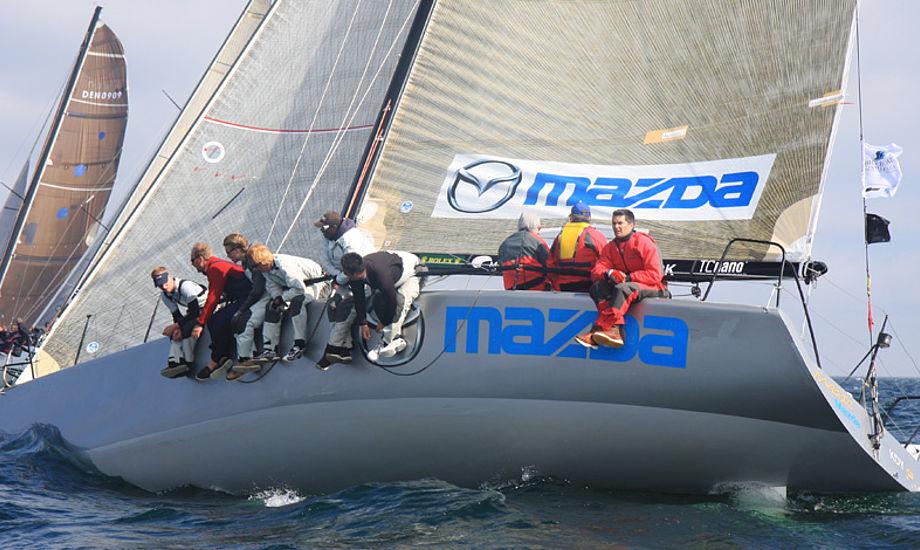 Ebbe Elmer sælger nu sin Farr 40. Her ses den under Big Boat Challenge i Kerteminde i maj måned. Foto: Troels Lykke