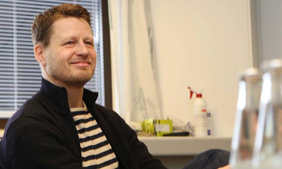 Mads Kolte-Olsen arbejder lige nu på at lære de 23 ansatte i Dansk Sejlunion at kende. Foto: Troels Lykke
