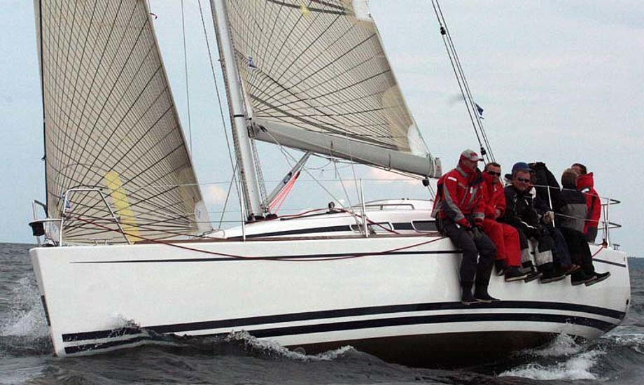 Arcona 340 under Palby Fyn Cup, de tabte ikke en mand, som en Luffe 37er gjorde det. Foto: Troels Lykke