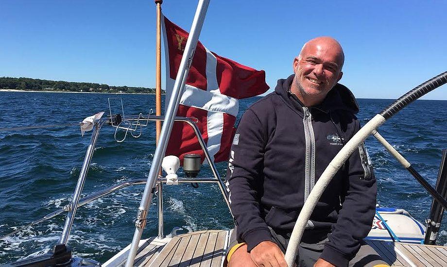 Lennert Petersen, Roskilde Sejlklub, ses her i sin Grand Soleil 43. Foto: Privatfoto
