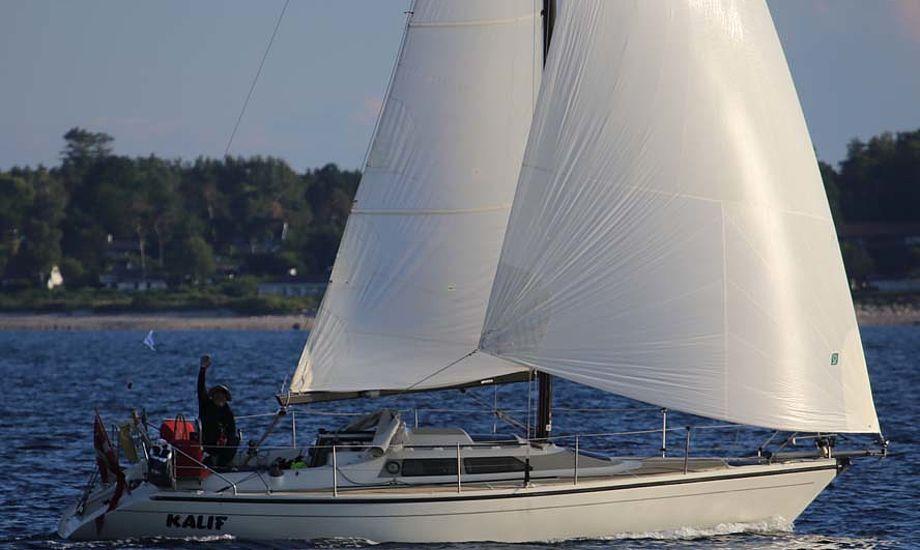 Sjælland Rundt-ledelsen vil undgå at sejlere falder i søvn før målstregen og sejler forbi, som Ole Jessen på billedet uheldigvis gjorde. Foto: Troels Lykke