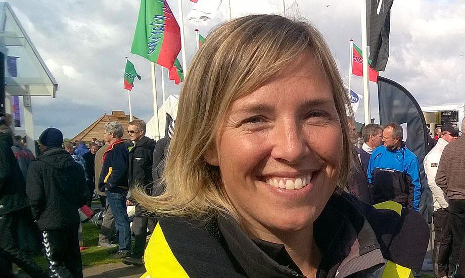 Ditte Juul fra Thurø er til dagligt lærer på Oure. Her ses hun lige efter skippermødet i Bogense. Foto: Troels Lykke