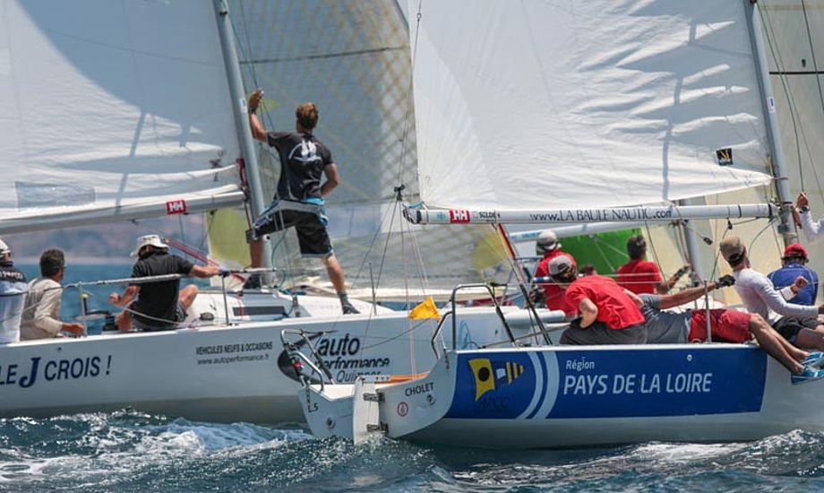 Drama til VM for J/80 i Marseille. Vinderen blev disket. Foto: marseille-j80worlds2013.com