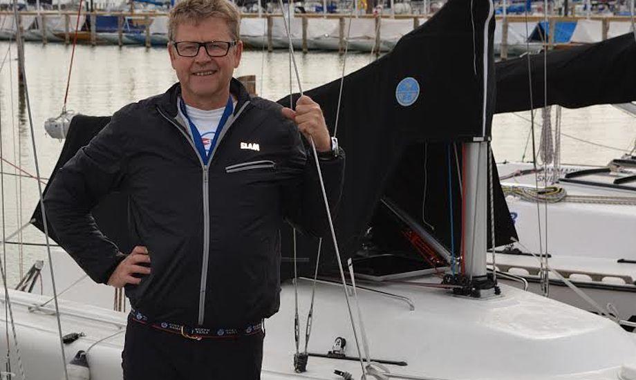 Den skrappe sejler Christian Nylykke har en lang og solid erfaring med salg og afvikling af eventsejladser. Foto: SKS