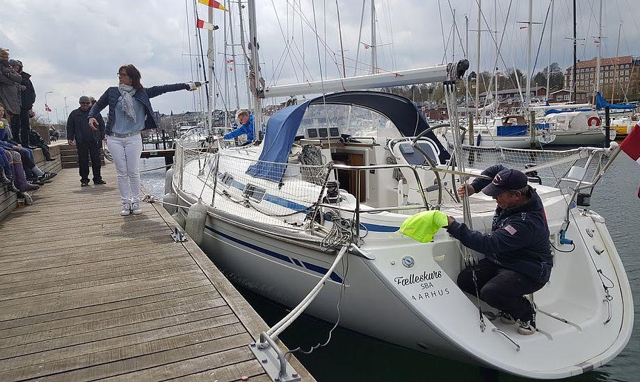Fælleskurs blev navnet på den nye klubbåd i Sejlklubben Bugten i Aarhus. Foto: Troels Lykke
