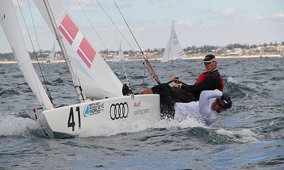 Michael Hestbæk og Claus Olesen i Perth sidste år. Foto: Hans Natorp