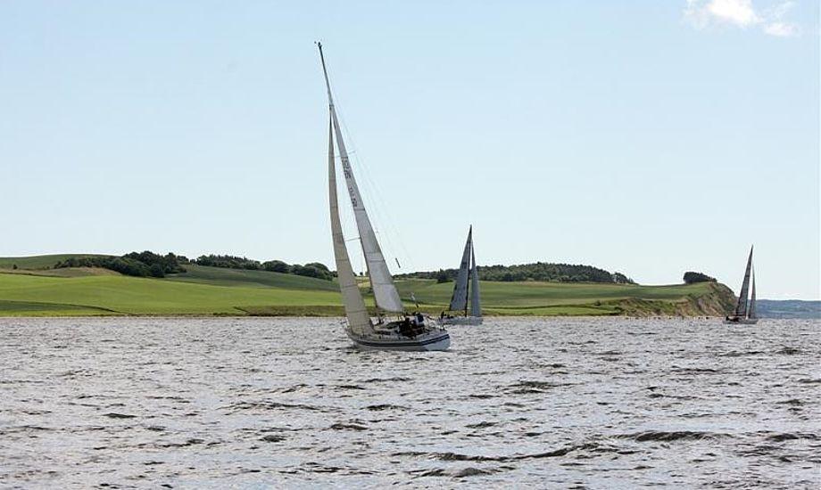 De større både måtte krydse langs de flotte landskaber, hvor Folkebådene kunne sejle mere direkte. Foto: Pantaenius/Niels Kjeldsen