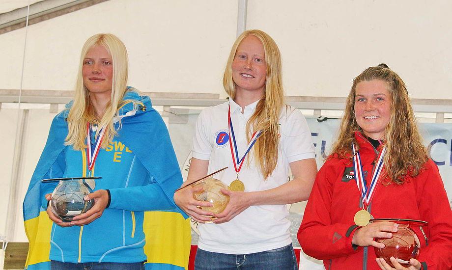 Anna Livbjerg i midten var igen i særklasse. Til højre ses stortalentet Anna Munch. Foto: Euroclass.dk