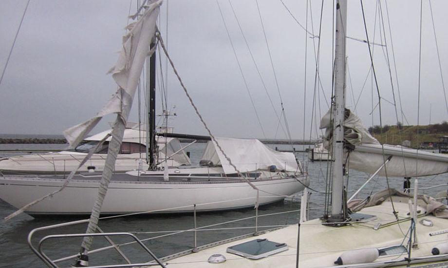 Her ses en ødelagt rullefok i Dragør havn fornylig. Foto: Troels Lykke