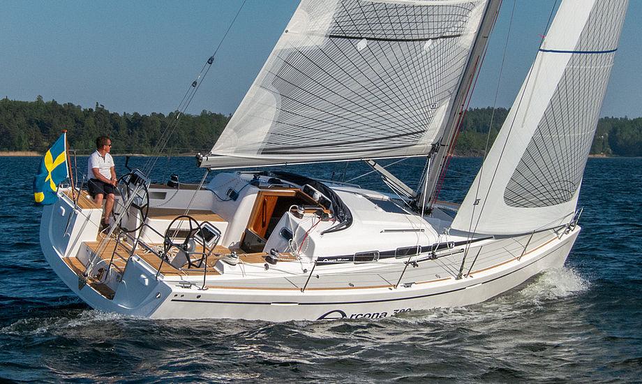 Den nye Arcona 380 har virkelig gode sejlegenskaber, viser de første tests.