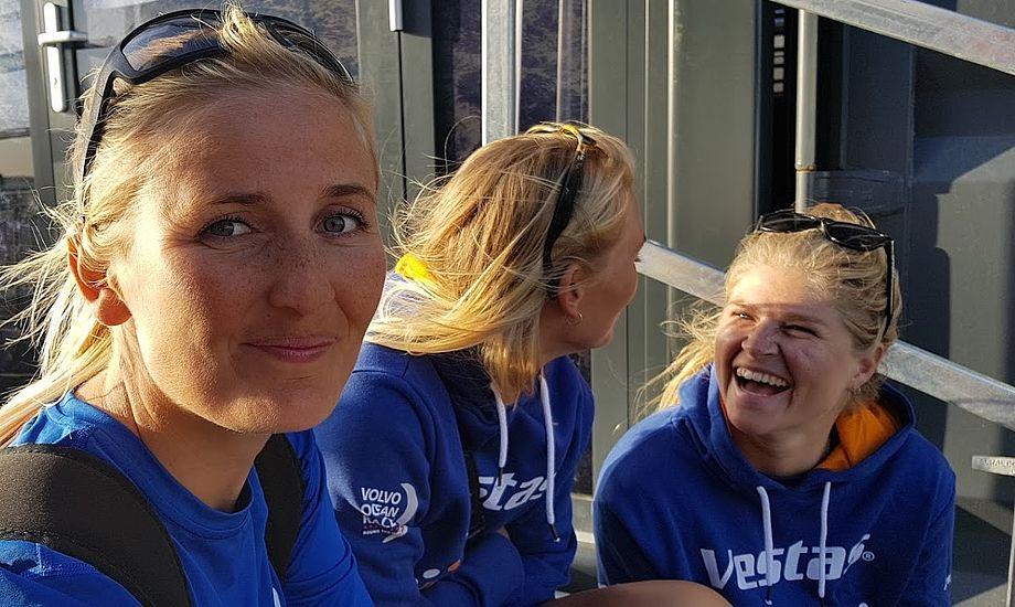 Her ses Jena Mai Hansen i Alicante med sin gast Katja Salskov-Iversen i baggrunden. Foto: Troels Lykke