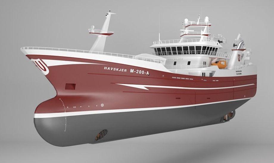 Fartøjet kommer til at bære navnet 'Havskjer'. Foto: Karstensens Skibsværft
