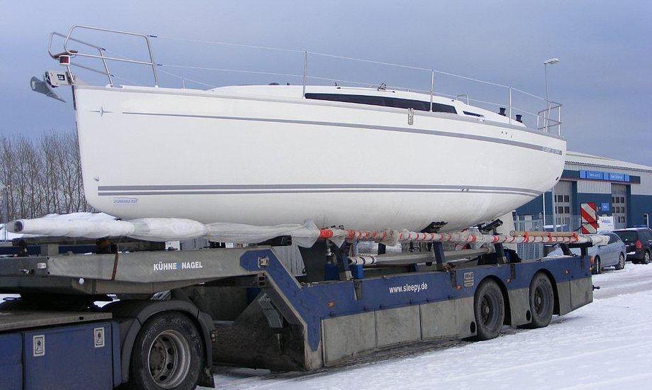 Bavaria 33 Cruiser på Egå Havn i dag. Foto: Michael Floor