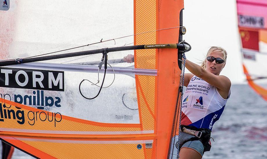 Lærke Buhl har været en af de store, danske overraskelser ved VM i Aarhus. Foto: Sailing Energy