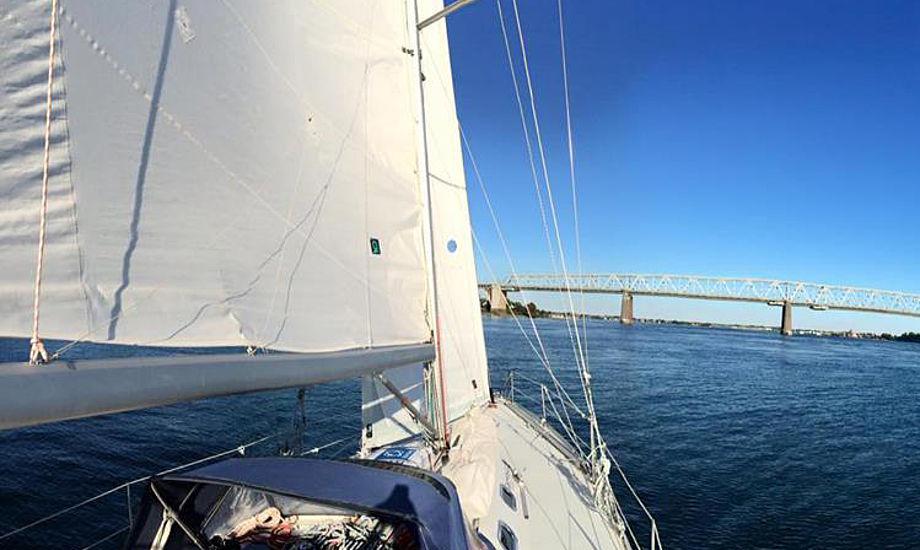 Middelfart-holdet er her tæt på målstregen i Lillebælt i Danmark rundt inshore. Foto: Morten Linnebjerg