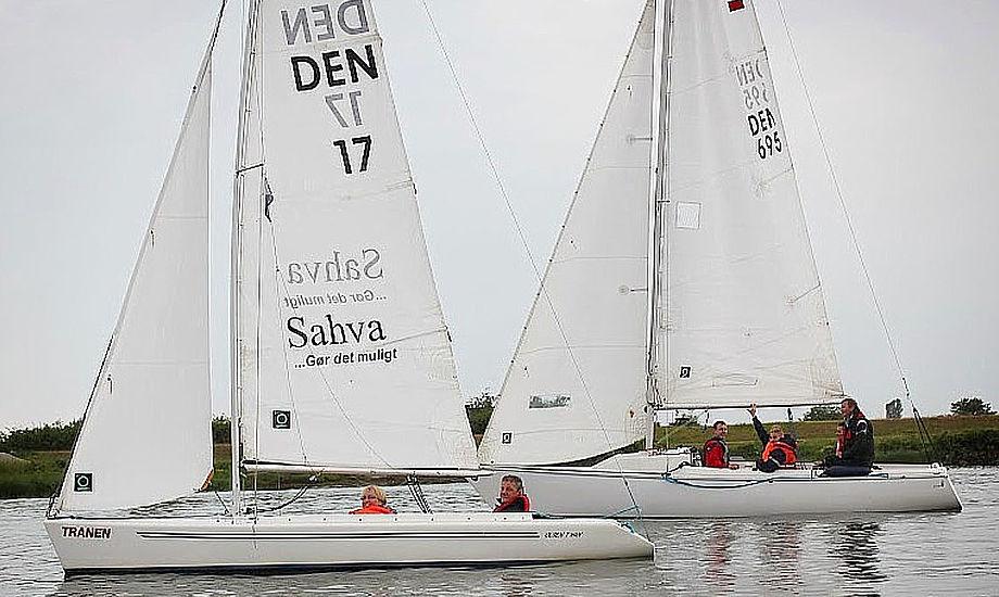 SKB råder over 3 stk. 2,4R (tidl. Mini 12-meter), 2 stk. Olsen-Twin og 3 stk. Sonar-sejlbåde. Foto: Finn B. Andersen