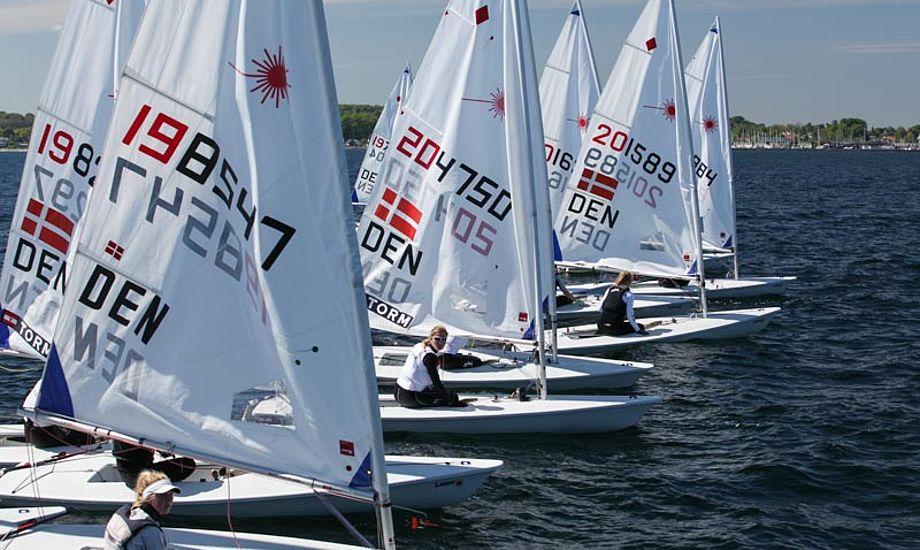 I Laser Radial-klassen deltog 26 både. Foto: Peter Søgaard