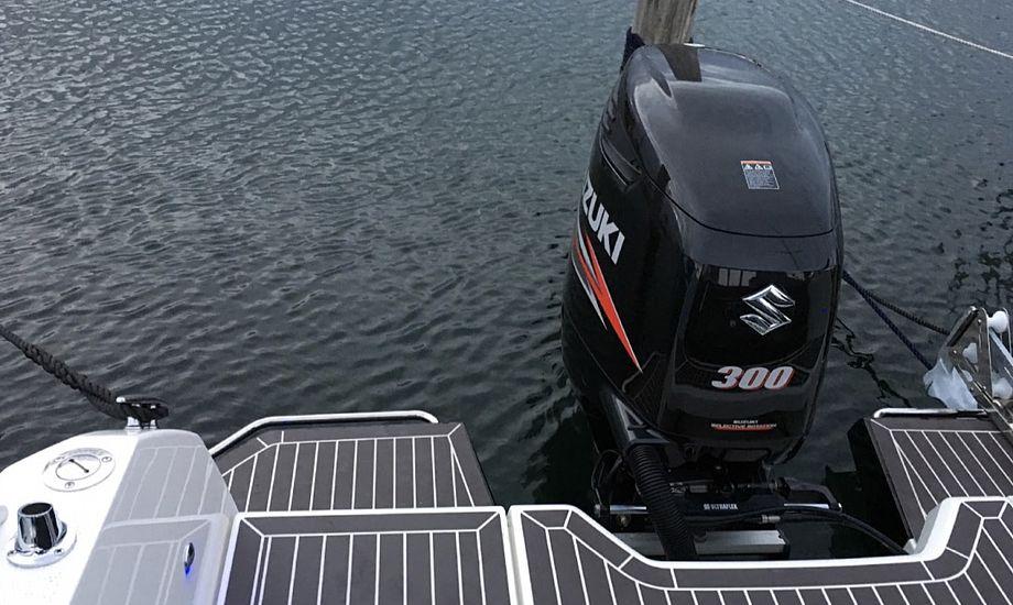 Motoren var på land, da den blev stjålet. Foto: StolenBoats.dk