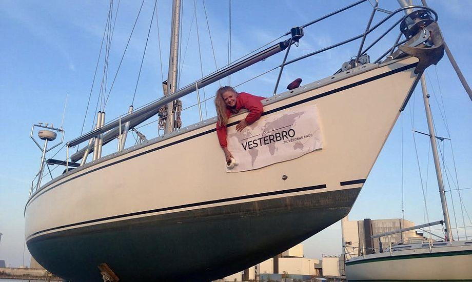 Vibeke Svenningsen skifter inden længe livet på Vesterbro ud med blåt hav og en gyngende Phantom 42. Foto: Privatfoto