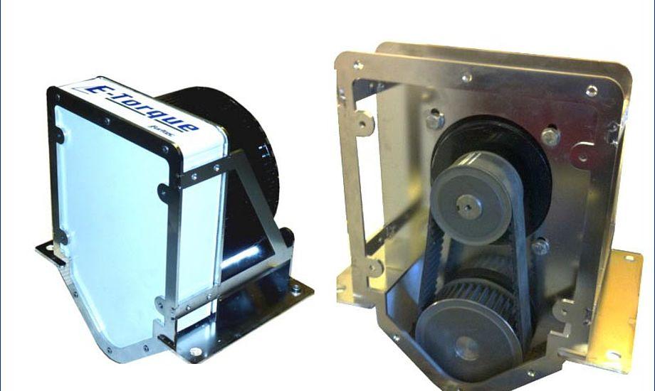 E-torque fås i to størrelser på hhv. 6,6HK og 13,3HK. Foto: E-torque