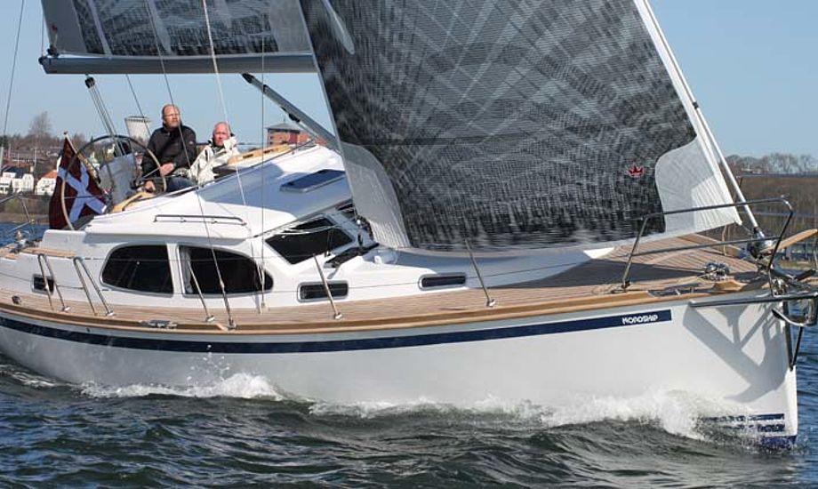 Nordship 360 sælges ofte med Selden rullemast og Elvstrøms Epex sejl.