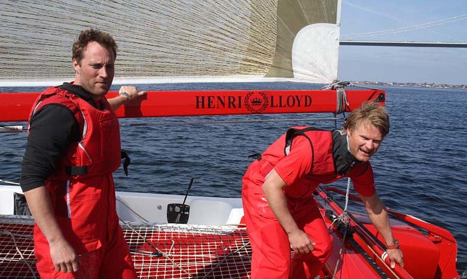 Jes Gram-Hansen og Rasmus Køstner på deres Extreme 40. Foto: Troels Lykke