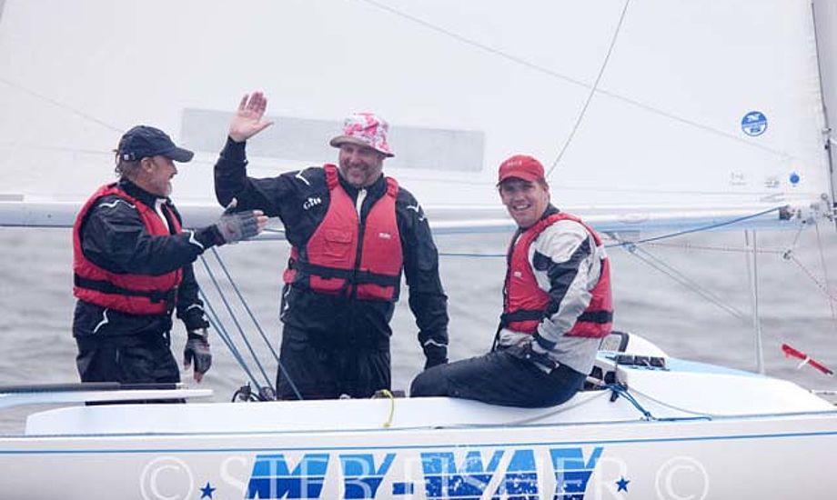 Fra venstre: Frank Berg, Søren Kæstel og Søren Holm. Foto: Steb Fisher: www.steb.com.au