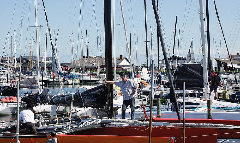 Sejlere fra hele landet mødes til kapsejlads i Bogense. Foto: Palby Fyn Cup