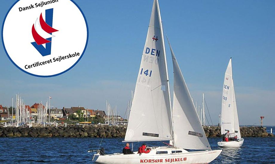 Certificeringen betyder at sejlerskolen skal dokumentere, hvordan de arbejder med udvalgte områder. Foto: Korsør Sejlklub