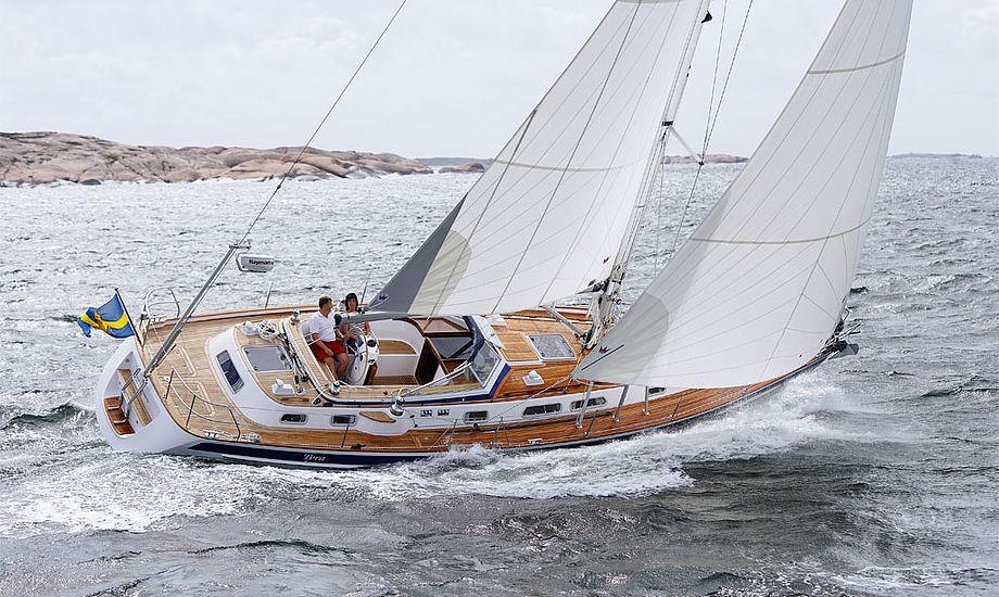 Her ses Hallberg-Rassy 43 MK II