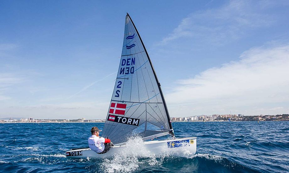 Jonas Høgh snuppede en 6. plads i første sejlads, men måtte udgå af anden. Arkivfoto: Dansk Sejlunion
