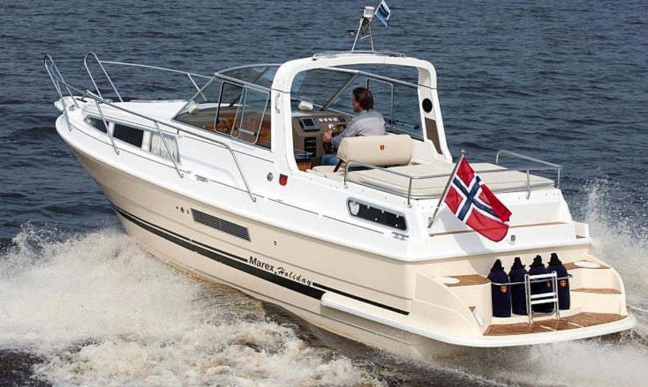 Marex 280 Holiday er, som navnet antyder, velegnet til feriesejlads på Europas kanaler. Foto: Reese Marin