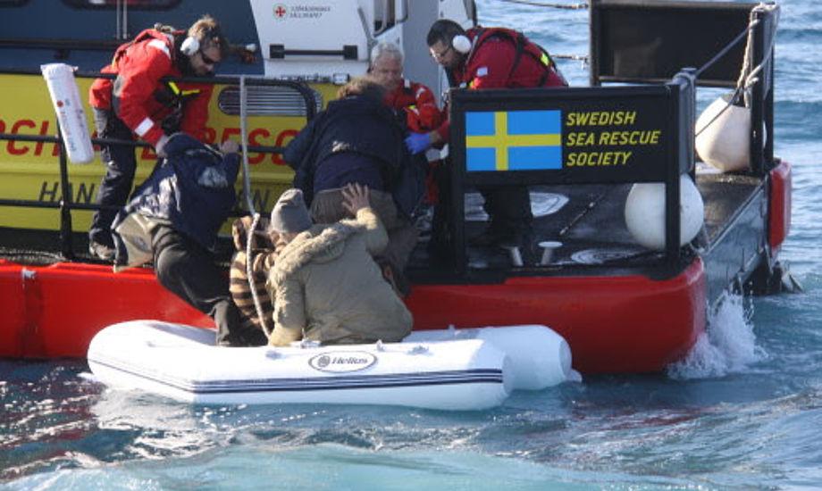 Reddet nr. 1000 var en afghansk mand på vej mod Grækenland. Foto: Svensk Søredningsselskab